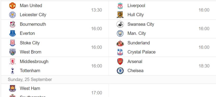 Premier League – 6.runde