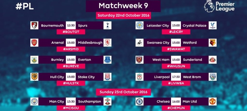 Premier League – 9. runde