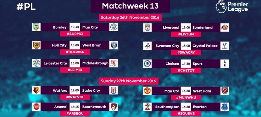 Premier League – 13.runde